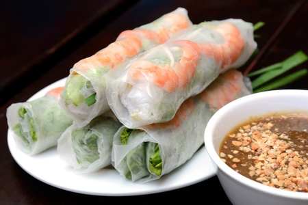 asia food: Fresh Spring Roll, Vietnamese Food