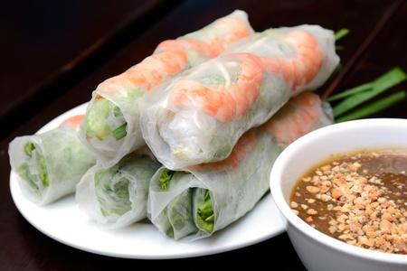 vietnamese food: Fresh Spring Roll, Vietnamese Food
