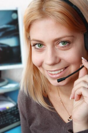 Bright Smile Call-center Operator photo