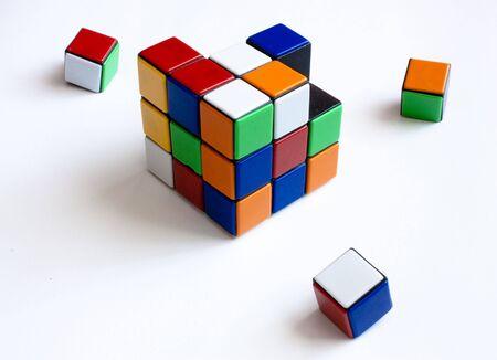 rubik: Cube of rubik puzzle. Broken