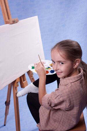 Little painter at the work Stock Photo - 5981512