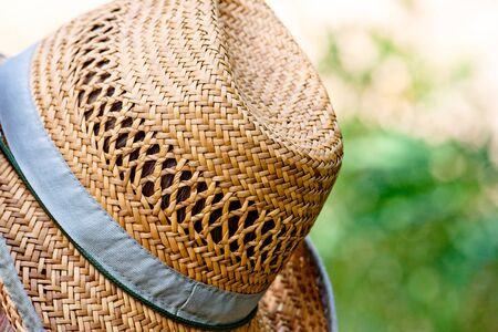rest day: Hat close up rest at sunny day nature Stock Photo