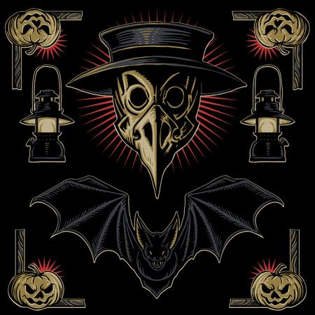 masque: Plague doctor halloween