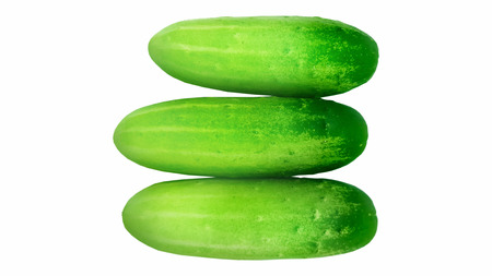 fresh green cucumber isolated on white backgroung