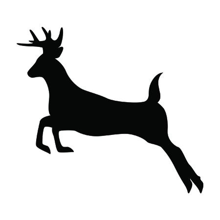 une silhouette isolé cerf sur fond blanc .