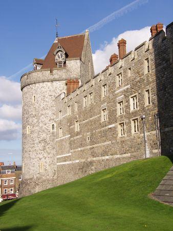 slits: Windsor Castle, the oldest inhabited castle in the UK.       Stock Photo