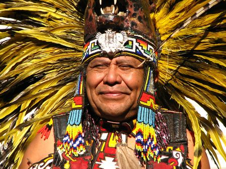 Aztec Tribal Elder Stock Photo - 2094978
