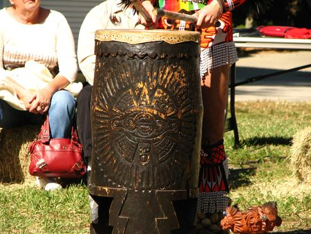 powwow: Aztec Powwow Drum Stock Photo
