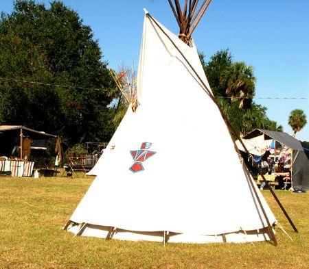 Indian Teepee at powwow photo