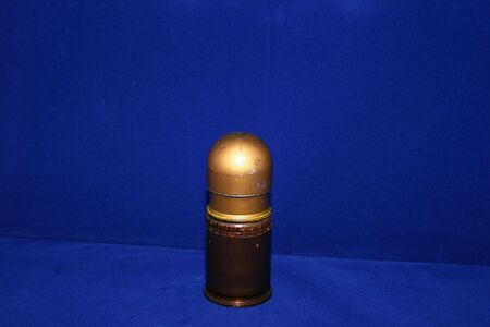 M79 Grenade on blue background
