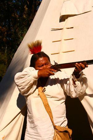 cherokee: Native Culture Full Blood Cherokee Stock Photo