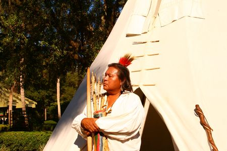 tepee: Native Culture Full Blood Cherokee Stock Photo