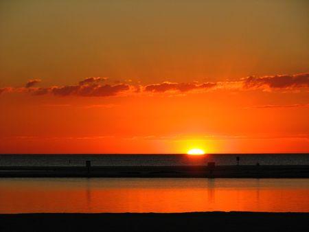 körfez: Sunset on the Gulf coast of Florida