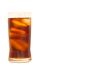 carbonated drink: carbonated soft drink Isolated on white background
