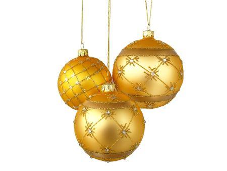 Arbre de Noël ornements pendaison, sur fond blanc  Banque d'images - 8149456