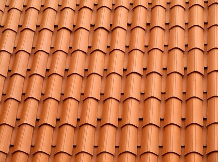 Traditional orange clay roofing tiles.