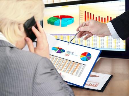 Analysing  financial data and charts.