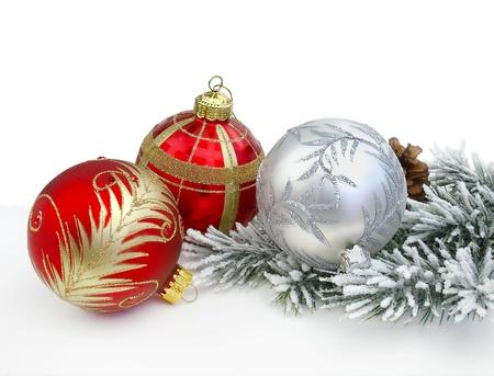 Christmas decoration on the white background    免版税图像