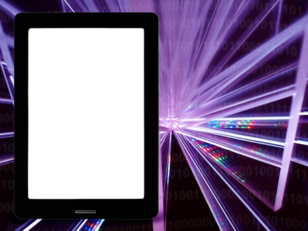Digital device on the colorful background