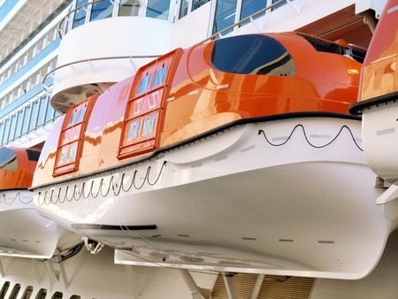 lifeboat: Lifeboats on a Cruise Ship