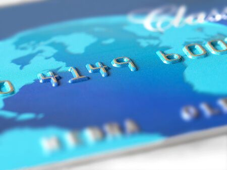 Closeup of credit card  photo