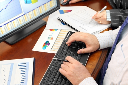 information analysis: Hands on the Keyboard and Financial Data and Charts in the Office