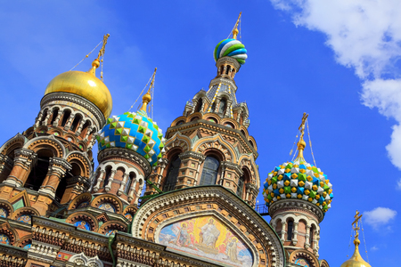 Church of the Saviour on Spilled Blood in St. Petersburg, Russia Stock Photo