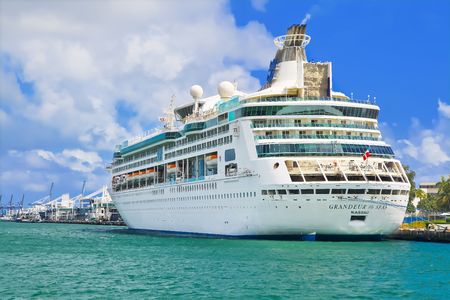 grandeur: MIAMI, USA - APRIL 12, 2017: Royal Caribbean cruise ship Grandeur of the Seas docked at the port of Miami Editorial