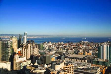 SAN FRANCISCO, CALIFORNIA, USA - OCTOBER 25, 2017: Downtown San Francisco and bay area on sunny day Editorial