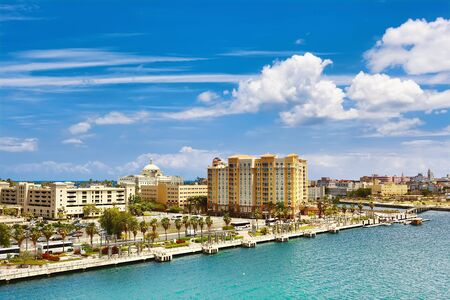 Cityscape of San Juan, Puerto Rico on sunny day