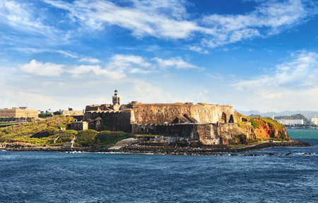 Fortress the Castillo San Felipe del Morro in San Juan, Puerto Rico on sunny day