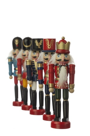 nutcracker in white background photo