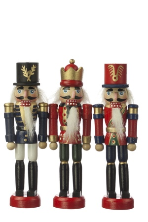 toy soldier: nutcracker in white background Stock Photo