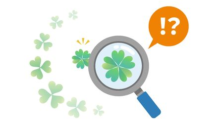 A clover is found. It wasn't Four leaf clover.The image which notices and is a question and comparison.