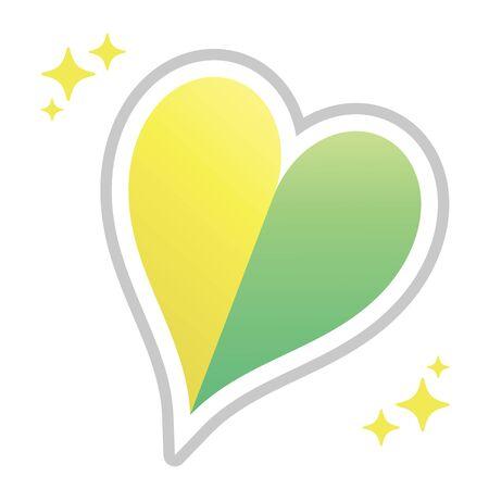 Beginner mark of cute design heart shape  イラスト・ベクター素材