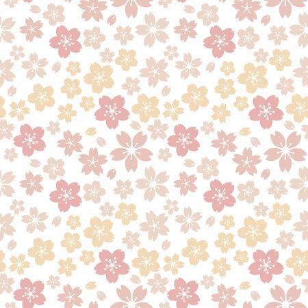 Moss phlox flower pattern.(Yellow, orange)soft, sweet, romantic image