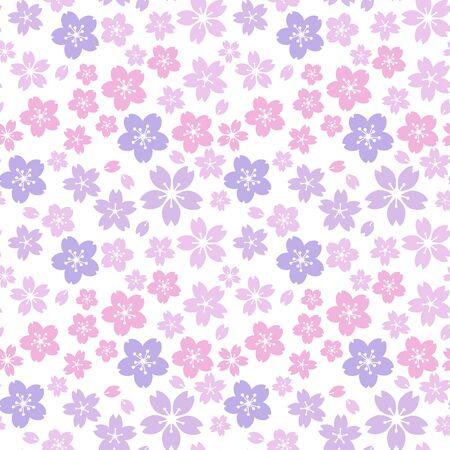 Moss phlox flower pattern.(purple,Light pink)soft, sweet, romantic image