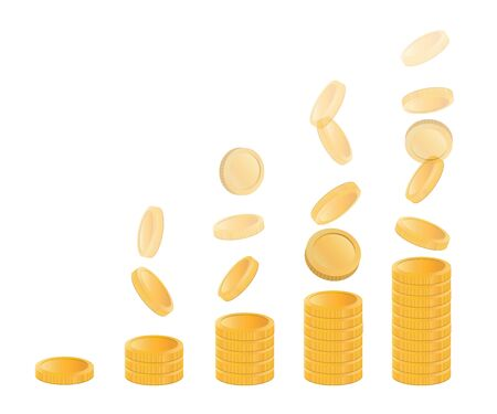 Increase of money. Investment and unearned income. Image of a business