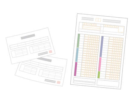 Medical receipts and tax returns. Image Illustration. Ilustrace
