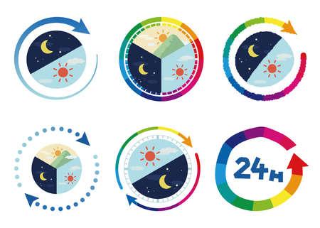 24 Hour Image Illustration Set (6 types)