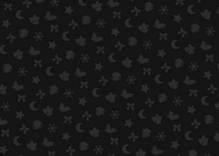 Christmas motif (black). seamless patterns. Includes swatch patterns data.