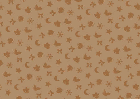 Christmas motif (beige). seamless patterns. Includes swatch patterns data.