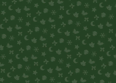 Christmas motif (green). seamless patterns. Includes swatch patterns data. Illusztráció