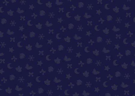 Christmas motif (navy). seamless patterns. Includes swatch patterns data.