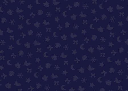 Christmas motif (navy). seamless patterns. Includes swatch patterns data. Stock fotó - 157731310