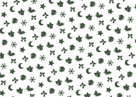 Christmas motif (white background, green). seamless patterns. Includes swatch patterns data. Stock fotó - 157731313