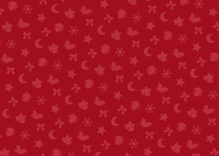 Christmas motif (red). seamless patterns. Includes swatch patterns data. Illusztráció