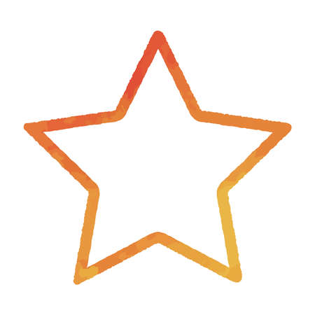 Line drawing of stars, watercolor illustration Illusztráció
