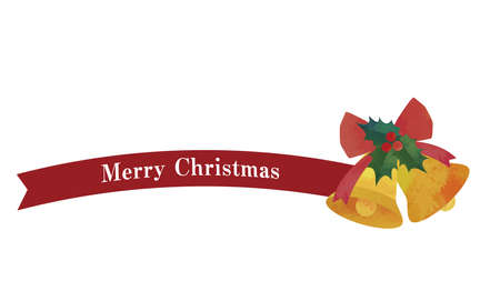 Simple ribbon and bell decoration (red) Christmas decorations