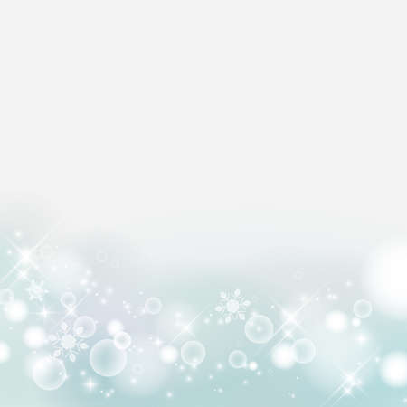 Abstract background of winter images, snowflakes. Glittering and Refreshing. light blue. (decoration at the bottom) Stock fotó